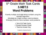 5.NBT.5 Math Task Cards - Word Problems