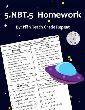 5.NBT.5 (Multiplication) Homework