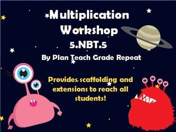 5.NBT.5 (Multiplication) Math Center/Workshop