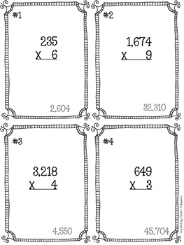 5.NBT.5 Multiplication Scavenger Hunt