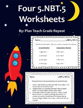 5.NBT.5 (Multiplication) Worksheets