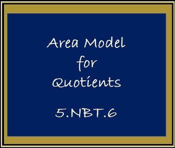 5.NBT.6 Area Model for Quotients