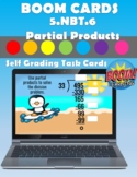5.NBT.6 Boom Cards Distance Learning (Partial Products)