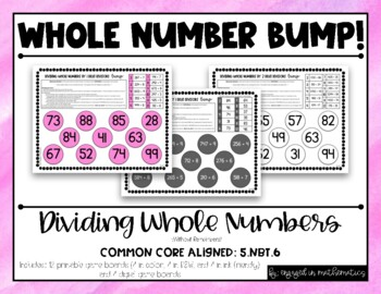 5.NBT.6 Dividing Whole Numbers BUMP! **Differentiated**