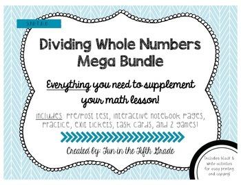 5.NBT.6 Dividing Whole Numbers MEGA BUNDLE