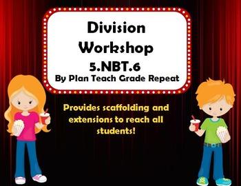 5.NBT.6 (Division) Math Center/Workshop