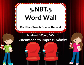 5.NBT.6 (Division) Word Wall