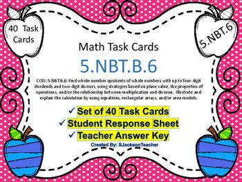 5.NBT.6 Math Task Cards