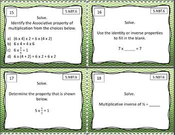 5.NBT.6 Math Task Cards Bundle