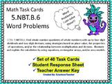 5.NBT.6 Math Task Cards  Word Problems
