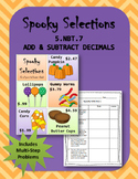 5.NBT.7 (Add & Subtract Decimals) Halloween Candy Sale
