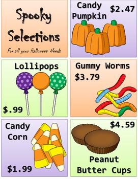 5.NBT.7 (Add & Subtract Decimals) Halloween Candy Sale