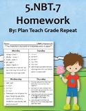 5.NBT.7 (Add, Subtract, Multiply, Divide) Homework