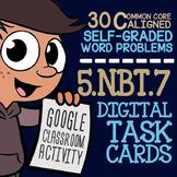 5.NBT.7 DECIMAL OPERATIONS Activity for Google Classroom ★ 5th Grade Task Cards