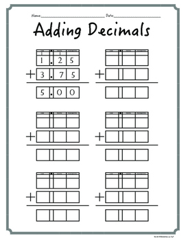 Task Cards-Adding, Subtracting, Multiplying, and Dividing Decimals