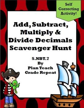 5.NBT.7 (Decimals) Scavenger Hunt