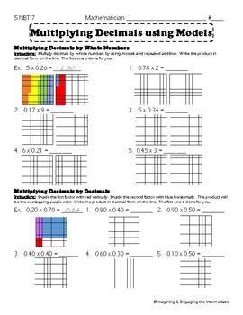 5.NBT.7 Multiplying Decimals Using Models