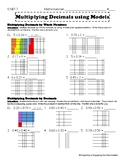 5.NBT.7 Multiplying Decimals Using Models
