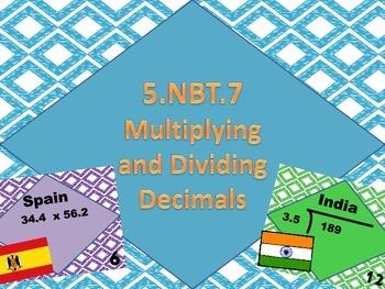 5.NBT.7 Multiplying and Dividing Decimals Task Cards