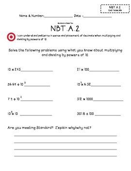 5.NBT.A.2 Exit Tickets (1,2,3)