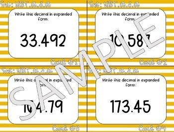 5.NBT.A.3.A Read and Write Decimals to Thousandths (MEGA PACK)