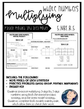 5.NBT.B.5 Multiplying Whole Numbers