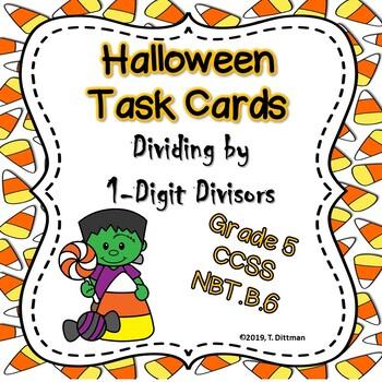 5.NBT.B.6 Halloween Division Task Cards/Scavenger Hunt