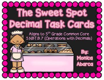 5.NBT.B.7 - Decimal Task Cards - The Sweet Spot