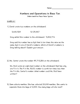5.NBT Numbers and Operations in Base Ten