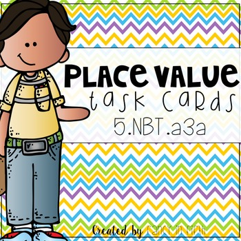 5.NBT.a3a: 5th Grade Place Value Task Cards