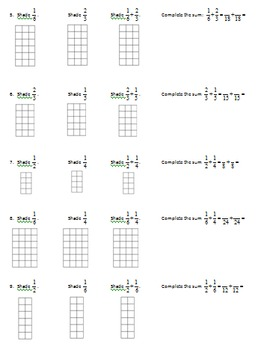 5.NF.1 Adding Fractions with Models