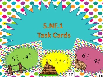 5.NF.1 Global Task Cards