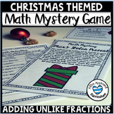 Christmas Math Mystery 5th Grade Adding and Subtracting Fractions
