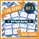 5.NF.1 Task Cards ⭐ Adding and Subtracting Fractions Centers