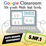 ⭐ AUTOMATICALLY GRADED ⭐ 5.NF.1 Task Cards: Adding and Subtracting Fractions