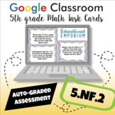 ⭐SELF-GRADED⭐ 5.NF.2 Task Cards: Adding and Subtracting Fractions Word Problems