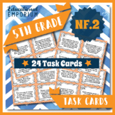 5.NF.2 Task Cards, 5.NF.2: Adding & Subtracting Fractions Word Problems Centers