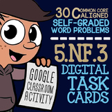 5.NF.3 Fractions as Division ★ 5th Grade Self-Graded Googl