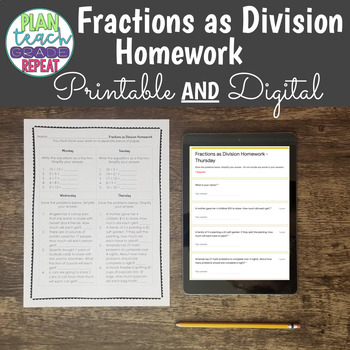 5.NF.3 (Fractions as Division) Homework