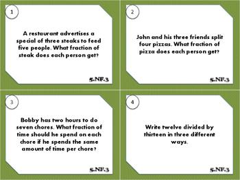 5.NF.3 Task Cards