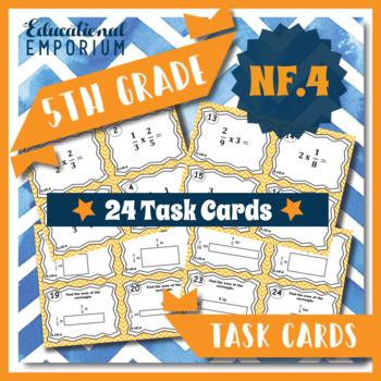 5.NF.4 Task Cards: Multiplying Fractions Task Cards 5NF4 Fraction Multiplication