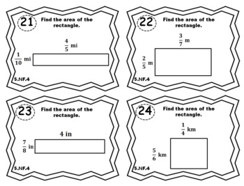 5.NF.4 Task Cards: Multiplying Fractions Task Cards 5NF4 Fraction Multiplication