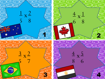 5.NF.4 and 5.NF.5 Multiplying Fractions Task Card Bundle