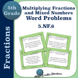 5.NF.6 Task Cards Multiplying Fractions and Mixed Number W