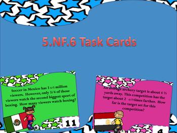 5.NF.6  Task Cards