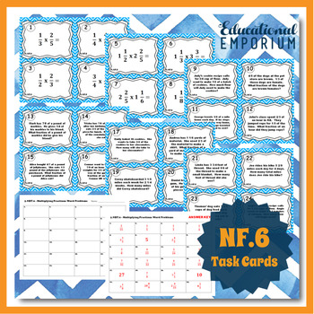5.NF.6 Task Cards: Fraction Word Problems Task Cards 5.NF.6 Word Problems