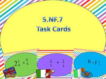 5.NF.7 Task Cards