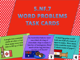 5.NF.7 word problem task cards