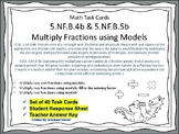 5.NF.B.4b & 5b Task Cards: Multiply Fractions using Models
