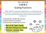 5.NF.B.5 Task Cards: Interpret multiplication as scaling (